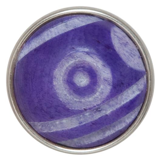Бусина Дзи фиолетовая