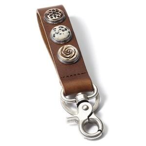 Брелок классический на 3 кнопки коричневый