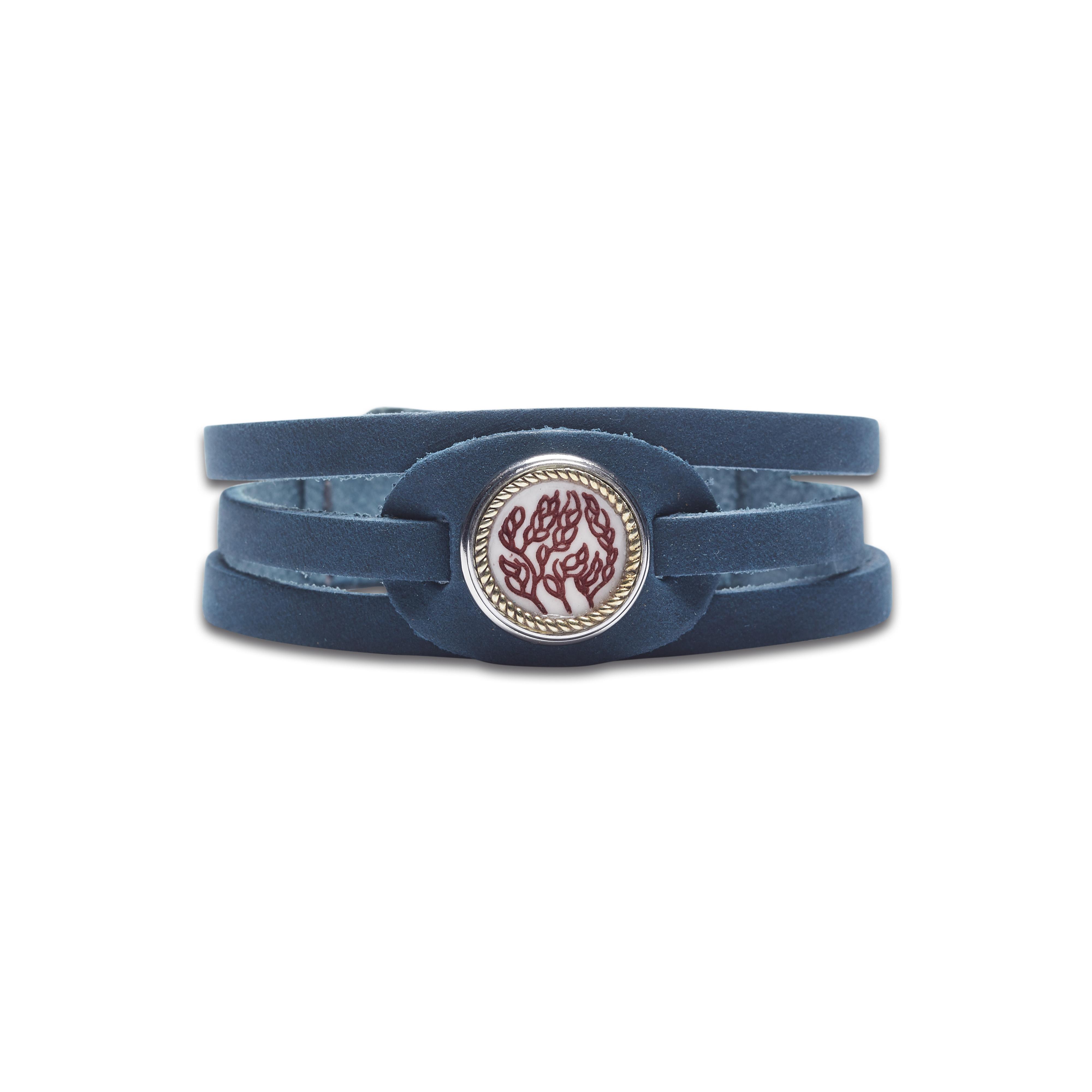 Браслет «Дух предков — Океан», цвет «синий сапфир»