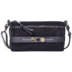 Черная сумка Сити «Дух предков» замшевая с вышивкой