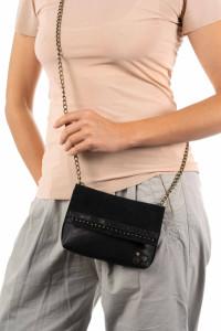 Вечерняя сумочка с кристаллами Swarovski черная