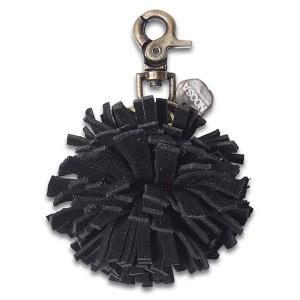 Брелок-помпон черный