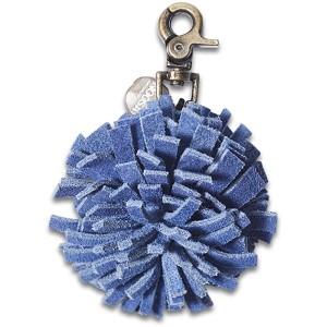 Брелок-помпон синий