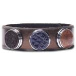 Классический браслет «Дух предков», каштановый металлик