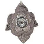 Кнопка-цветок серый