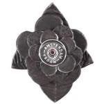 Кнопка-цветок черный графит