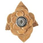 Кнопка-цветок охра