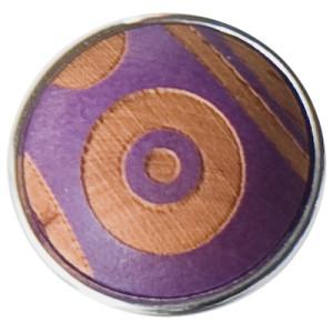 Бусина Дзи пурпурная
