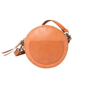 Сумка круглая «Декада» коричневая