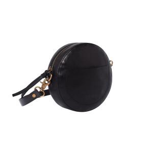 Сумка круглая «Декада» черная