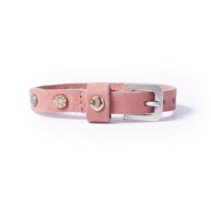 «Petite» Браслет Нубук Стадз розовый